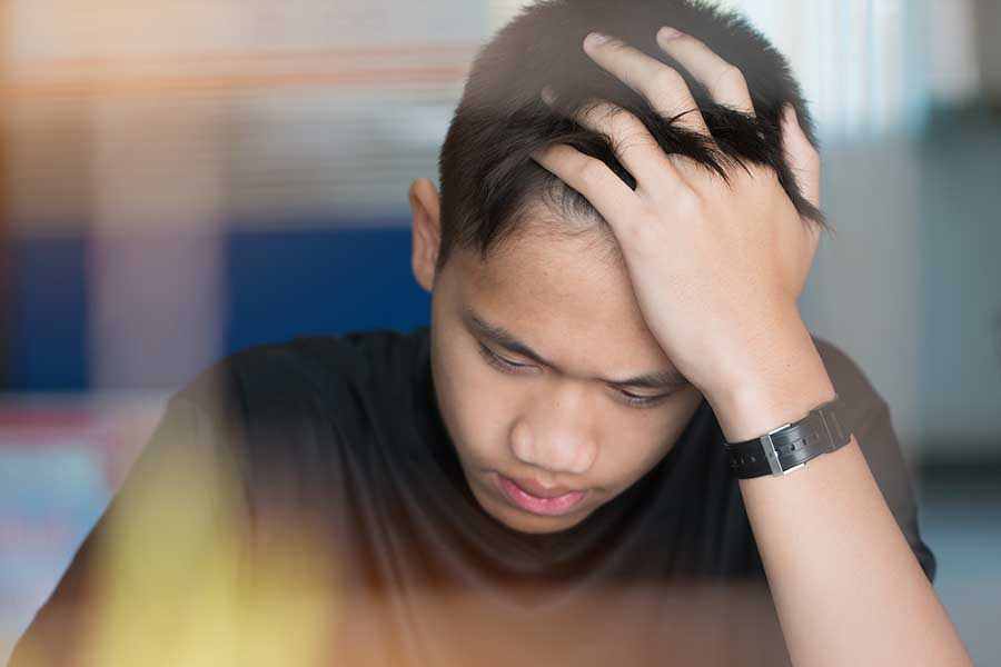 stressed student trying to understand difficult concept