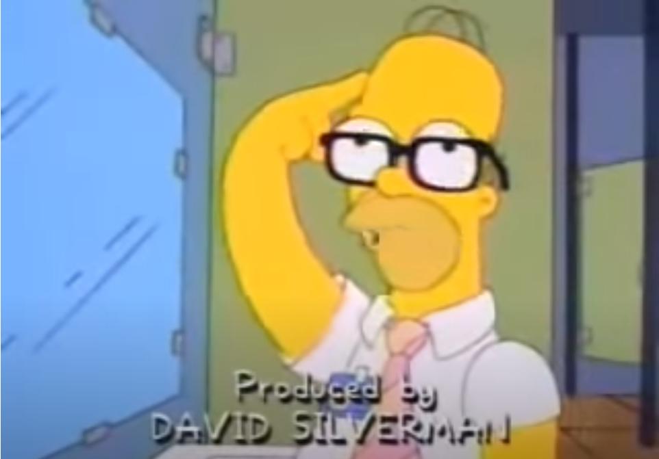 Homer simpson recites pythagoras theorem