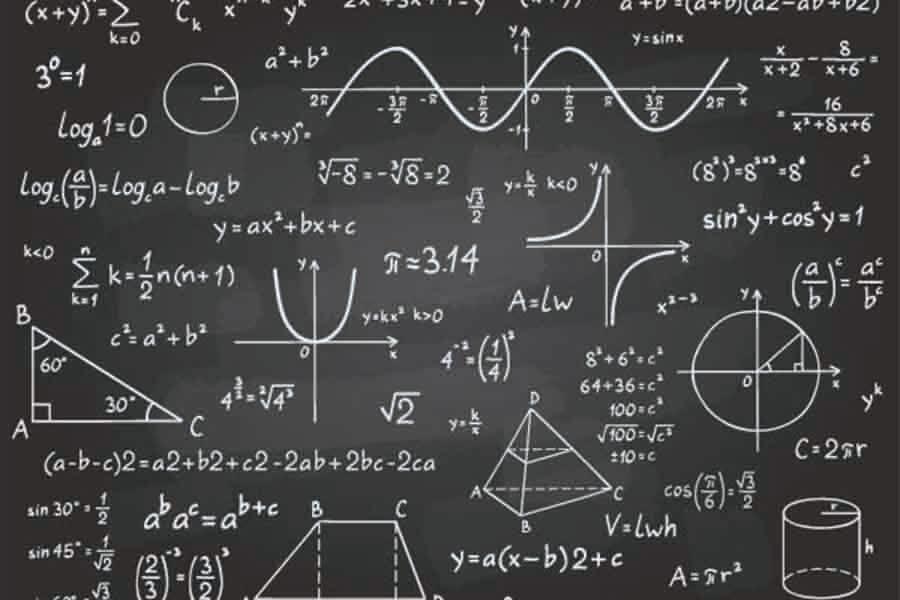 math tuition concepts drawn on blackboard