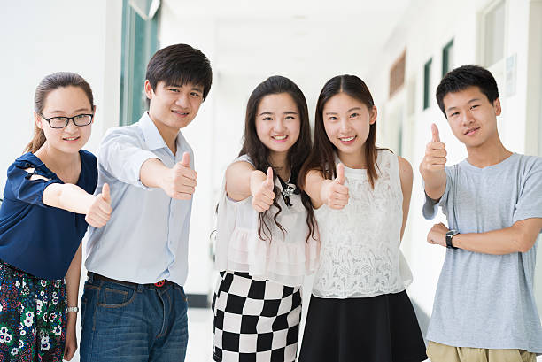 Group of asian young people.